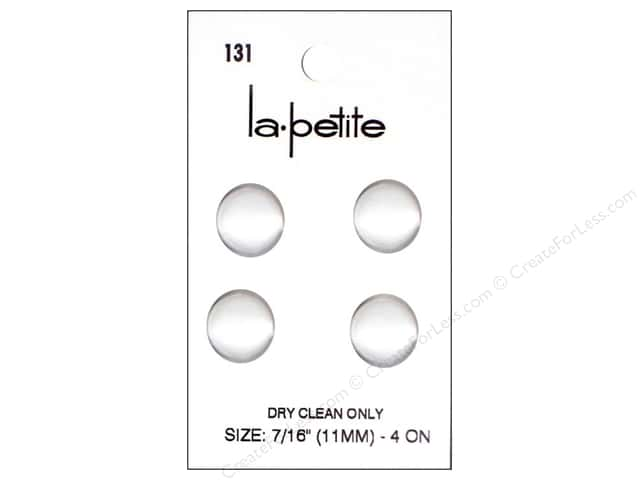 LaPetite Shank Buttons 7/16 in. Satin White #131 4pc.