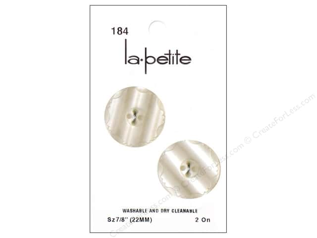 LaPetite 4 Hole Buttons 7/8 in. Ivory #184 2pc.