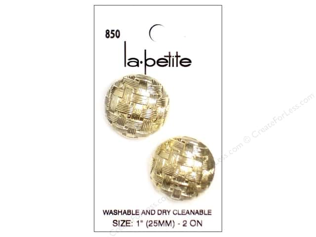 LaPetite Shank Buttons 1 in. Gold #850 2pc.