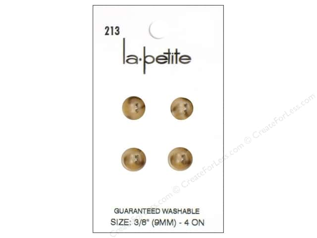 LaPetite 4 Hole Buttons 3/8 in. Beige #213 4pc.