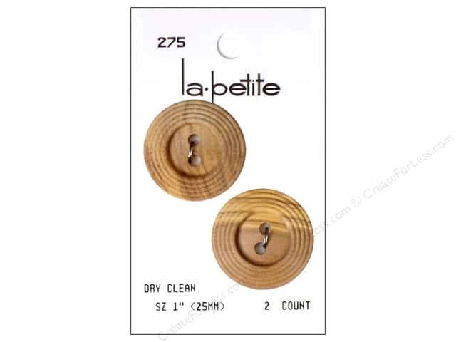 LaPetite 2 Hole Buttons 1 in. Natural #275 2pc.