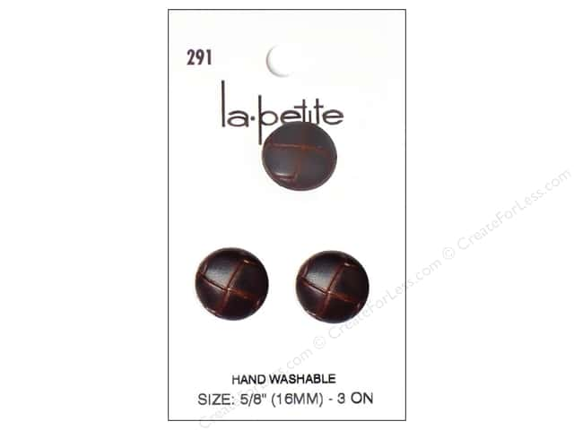 LaPetite Shank Buttons 5/8 in. Leather Brown #291 3pc.