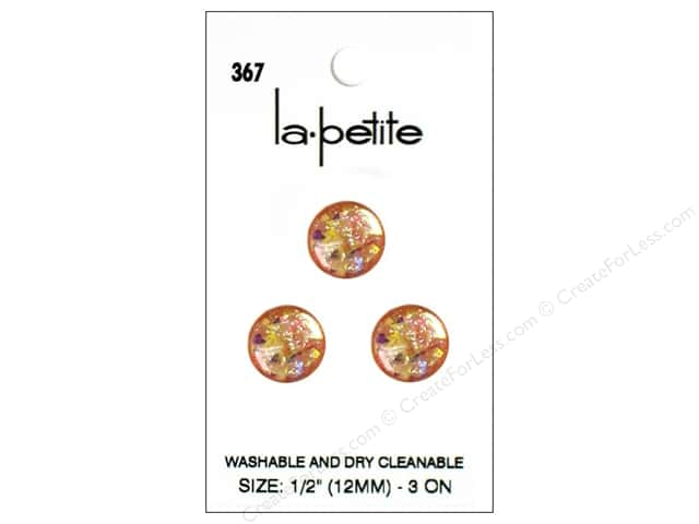 LaPetite Shank Buttons 1/2 in. Pink #367 3pc.