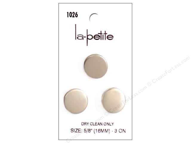 LaPetite Shank Buttons 5/8 in. Silver #1026 3pc