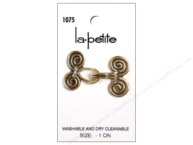 LaPetite Closure Buttons 1 1/2 in. Antique Gold # 1075 1pc.