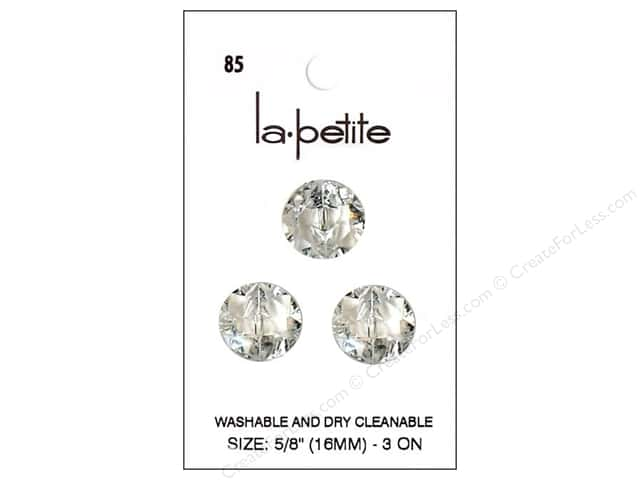 LaPetite Shank Buttons 5/8 in. Crystal #85 3pc.
