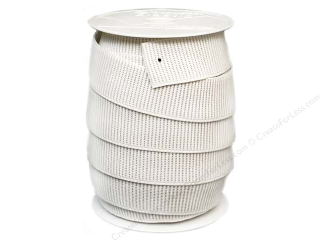 Stretchrite Non-Roll Ribbed Elastic 1 1/2 in. x 20 yd White (20 yards)