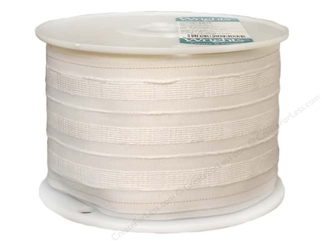 "Wrights Pencil Pleat Tape 4"" White 20 yd (20 yards)"