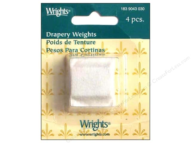 Wrights Drapery Weights Cloth Covered White 4 pc