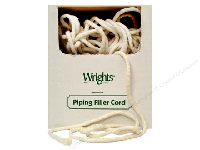 Wrights Cotton Piping Cord 3/8 in. x 100 yd. Natural (100 yards)