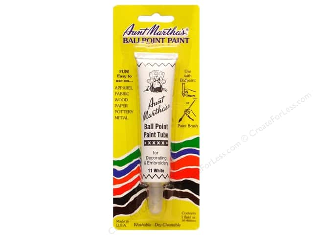 Aunt Martha's Ballpoint Paint Tube - White 1 oz.