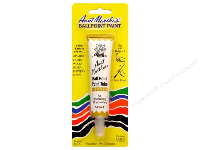 Aunt Martha's Ballpoint Paint Tube 1 oz. Gold