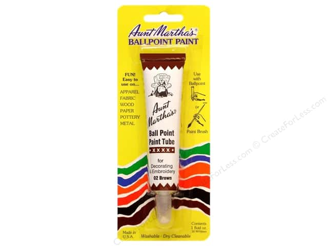 Aunt Martha's Ballpoint Paint Tube 1 oz. Brown