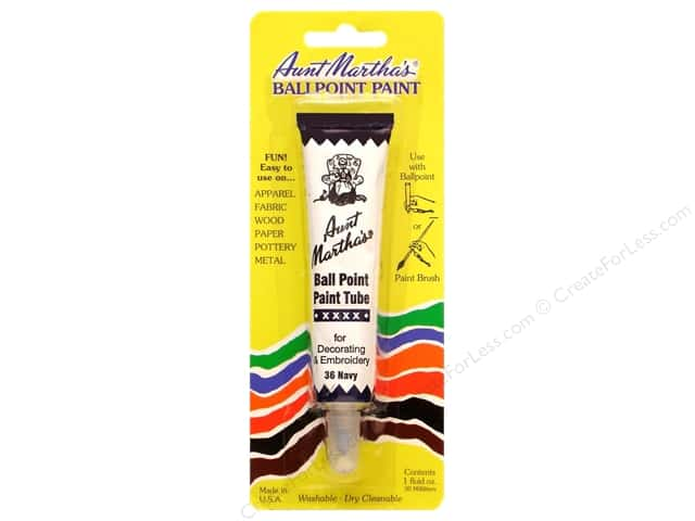 Aunt Martha's Ballpoint Paint Tube 1 oz. Navy