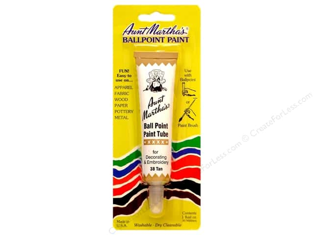 Aunt Martha's Ballpoint Paint Tube 1 oz. Tan