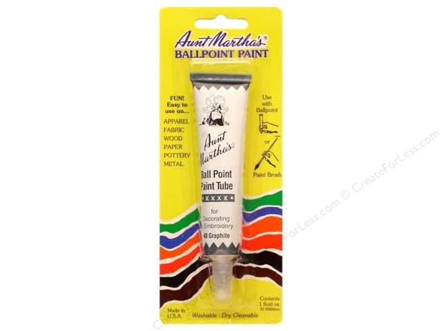 Aunt Martha's Ballpoint Paint Tube 1 oz. Graphite