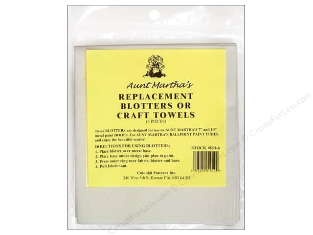 Aunt Martha's Replacement Blotters / Craft Towels 6 pc.