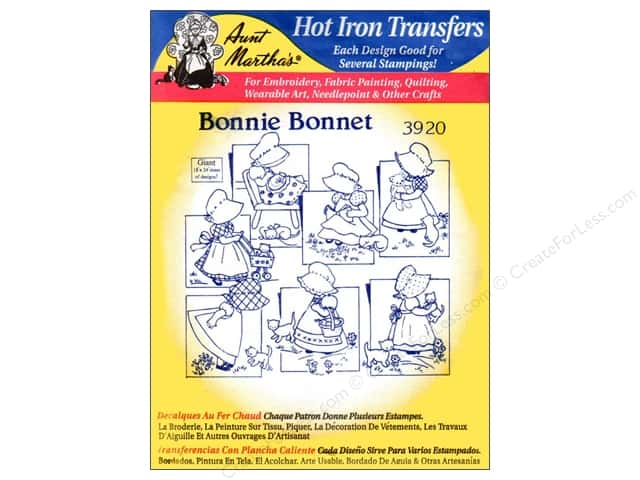 Aunt Martha's Hot Iron Transfer #3920 Bonnie Bonnet