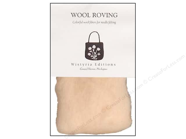 Wistyria Editions Wool Roving 12 in. Flesh