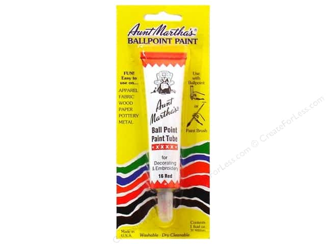 Aunt Martha's Ballpoint Paint Tube 1 oz. Red