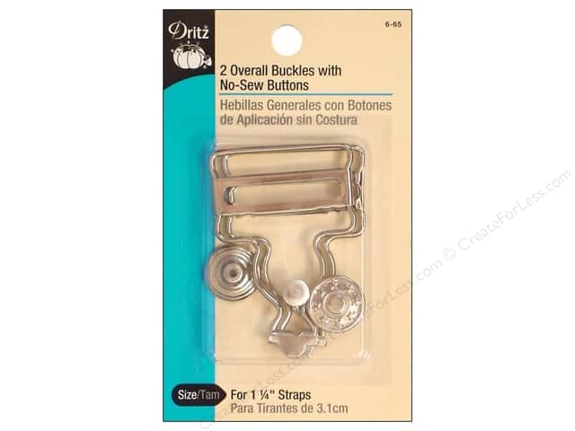 Overall Buckle with Button by Dritz 1 1/4 in. Nickel