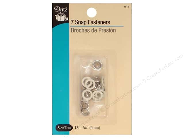 Dritz Snap Fasteners Dritz 3/8 in. White 7 pc.