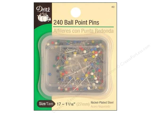 Ball Point Pins by Dritz Size 17 240pc.