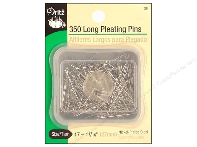 Pleating Pins-Long by Dritz Size 17 350pc.