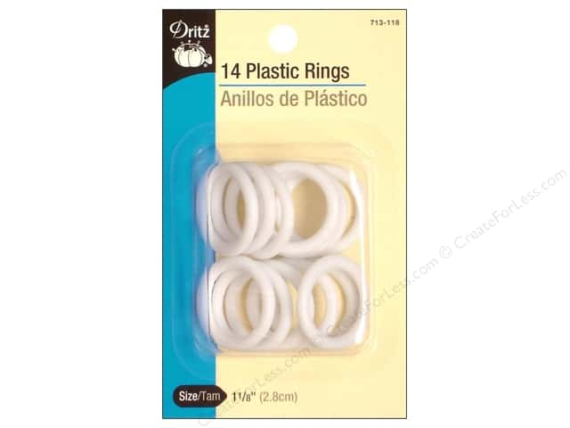 Plastic Rings by Dritz 1 1/8 in. 14pc.
