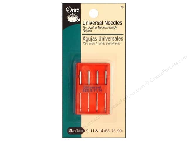 Universal Machine Needles by Dritz 9/11/14 Assorted 4pc