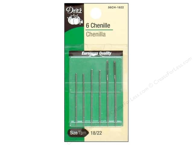 Chenille Needles by Dritz 18/22 6pc