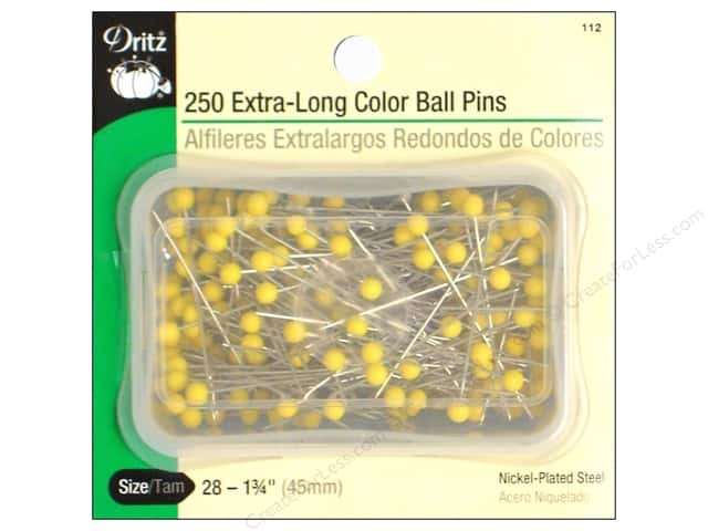 Color Ball Pins Extra Long by Dritz Size 28 250pc.