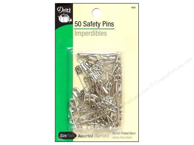 Safety Pins by Dritz Assorted 50pc.
