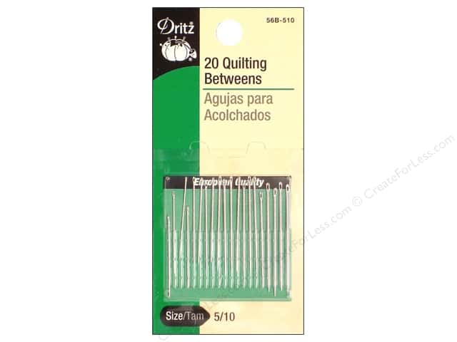 Dritz Hand Needles Betweens Size 5/10 20pc