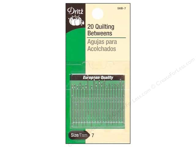 Dritz Qulting Needles Betweens Size 7 20 pc.
