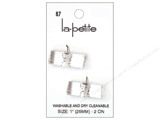 LaPetite Shank Buttons 1 in. Crystal Toggle #87 2pc.