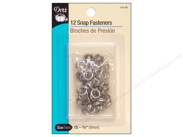 Snap Fasteners by Dritz 3/8 in. Nickel 12 pc.