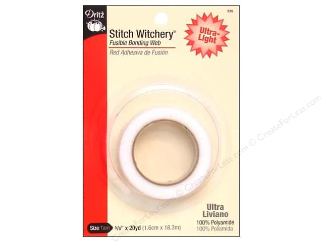 Stitch Witchery Fusible Bonding Web by Dritz Ultra-light 5/8 in. x 20 yd.