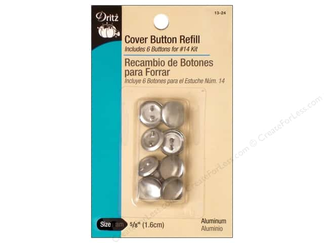 Cover Button Refill by Dritz 5/8 in. 6 pc.