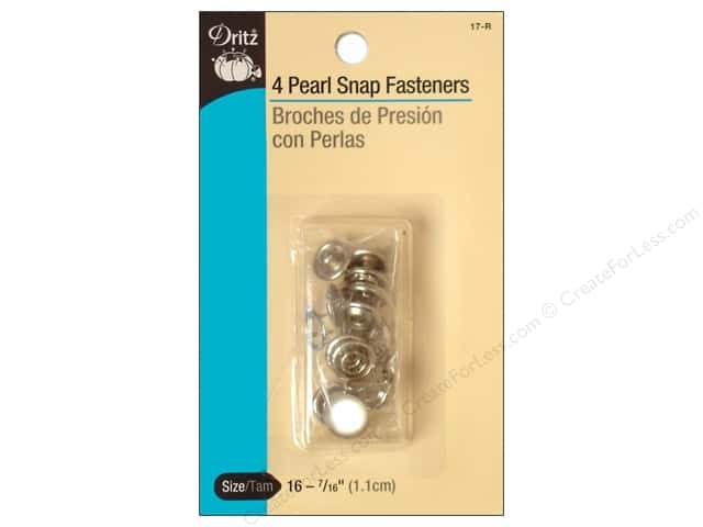 Pearl Snap Fasteners by Dritz 7/16 in. White 4 pc.