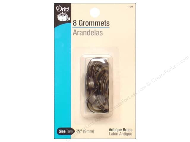 Dritz Grommets 3/8 in. Antique Brass 8 pc.