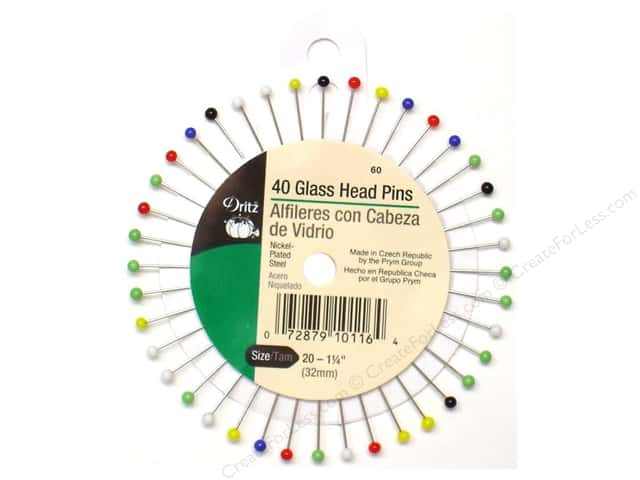 Glass Head Pins by Dritz Size 20 40 pc.