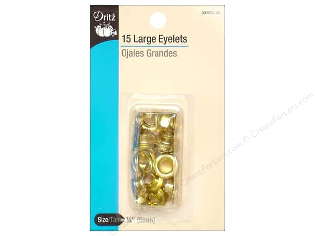 Large Eyelets by Dritz 1/4 in. Brass 15pc.