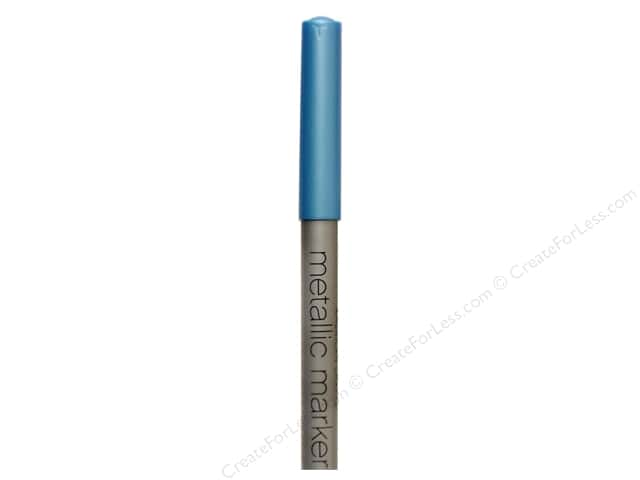 American Crafts Metallic Marker Medium Tip Blue