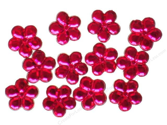 Jesse James Dress It Up Embellishments Petals 14mm Hot Pink
