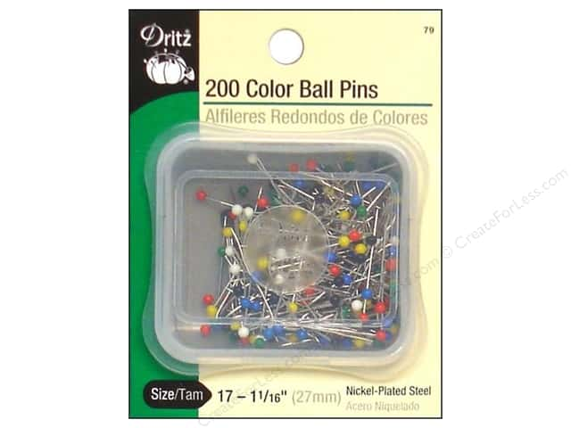 Color Ball Pins by Dritz Size 17 200pc.