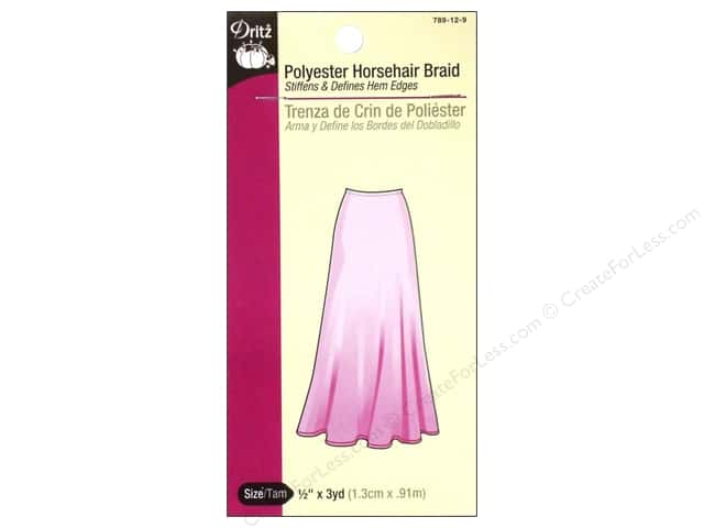 Horsehair Braid Polyester by Dritz 1/2 in. x 3 yd