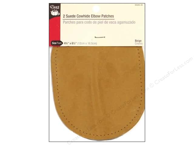 Suede Elbow Patches by Dritz 2 pc. Beige