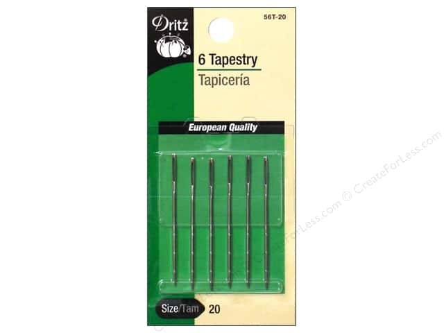 Tapestry Needles by Dritz Size 20 6pc