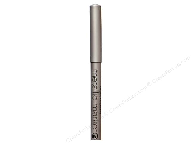 American Crafts Metallic Marker Medium Tip Silver